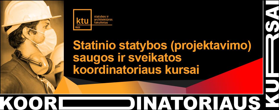 Statinio statybos saugos ir sveikatos koordinatoriaus kursai